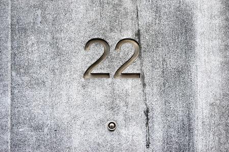 twenty two: House number twenty two
