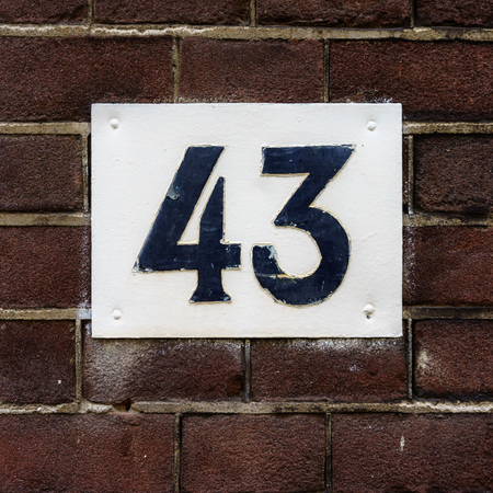 Ordinal: House number forty three (43)