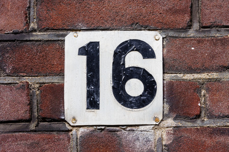 house number sixteen