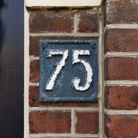Ordinal: House number seventy five