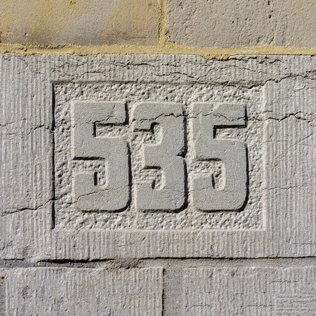 thirty five: house number five hundred and thirty five (535)