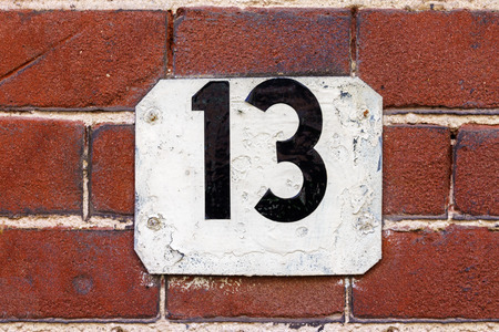 13: House number thirteen (13)