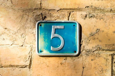 House number five (5) Stock Photo