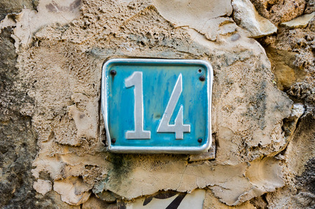 number 14: House number fourteen (14)