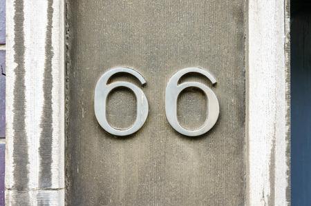sixty six: House number sixty six (66)