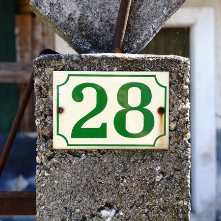House number twenty eight (28).