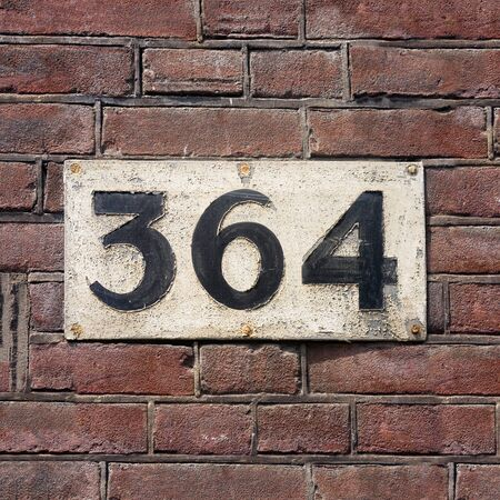 Old house number three hundred and sixty four (364) Stock Photo
