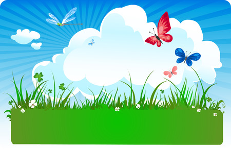 summer meadow Stock Vector - 4036696