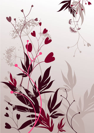 accents: Fondo floral abstracto