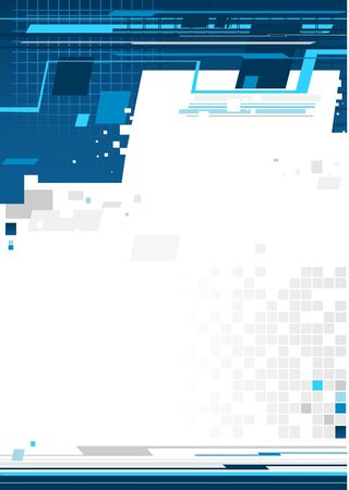 blue line: Abstract blue background Illustration