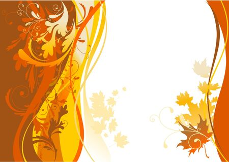 Autumn background with space for text Stock Vector - 5860453