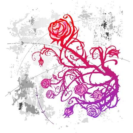 Grunge rose Stock Vector - 5860460