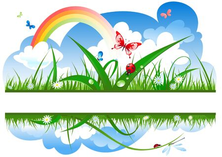 positive summer banner Vector