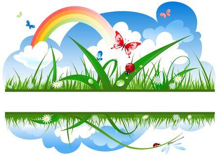 positive summer banner Stock Vector - 5860482