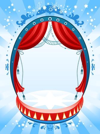 cabaret: Arri�re-plan de cirque avec espace de texte   Illustration