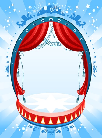 tassel: Circus background with space for text