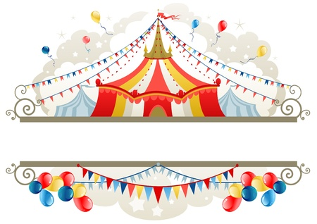 Circus tent frame with space for text Vector