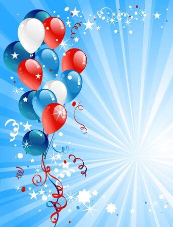 Feestelijke ballonnen met ruimte voor tekst Vector Illustratie