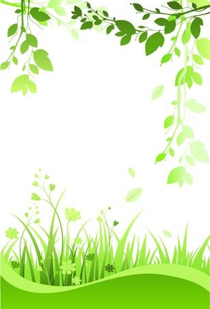 spring out: marco floral con espacio para texto  Vectores