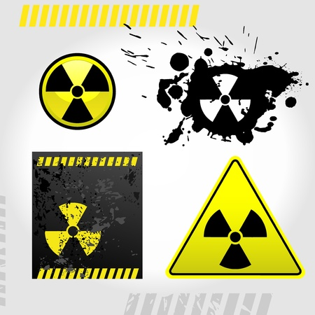 Warning radiation signs Vector