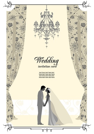 Wedding card with space for text   Vector