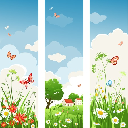 Summer day banners Vector