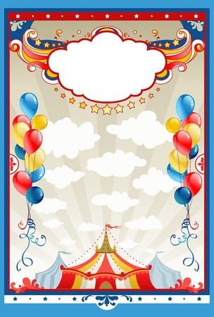 fondo de circo: Marco de circo con espacio para texto