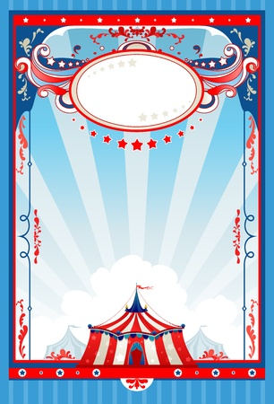 old poster: Circus poster with space for text   Illustration