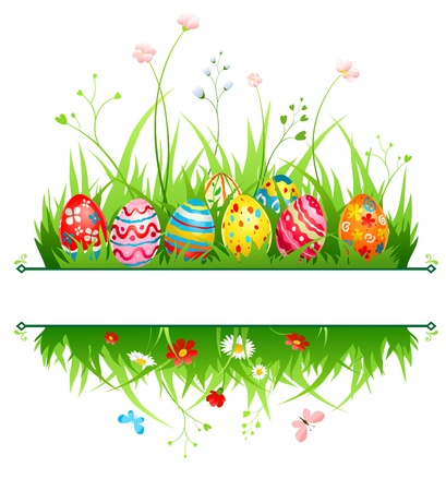 Easter frame with space for text   Vector