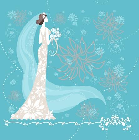 Elegant bride. Stock Vector - 9334043