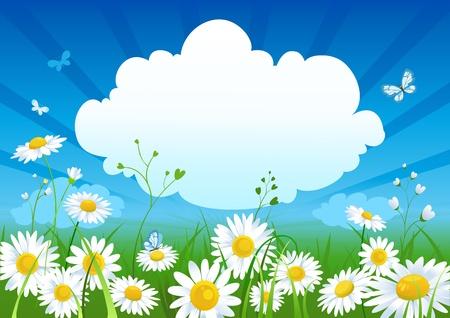primavera: Fondo de verano con espacio para texto   Vectores
