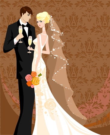 Wedding. Vector