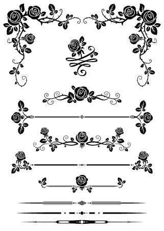 divides: Elementos decorativos Vectores