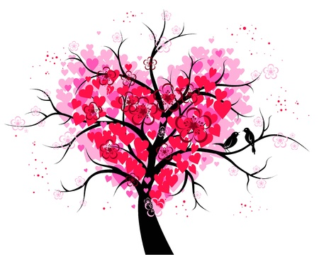 Árvore do coração Ilustração