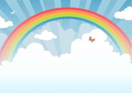 arcoiris: Arco iris con espacio para texto
