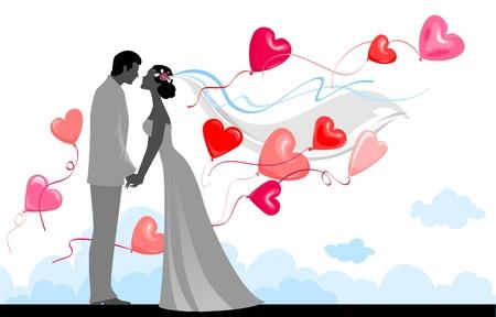 heiraten: Hochzeit mit festlichen Ballons
