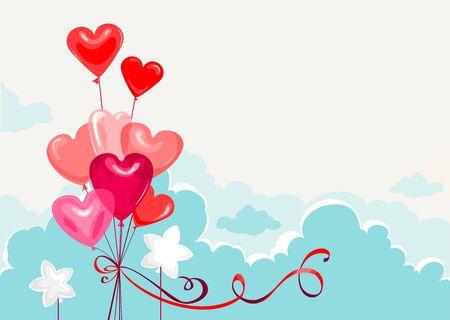 Heart Shape Balloons Stock Vector - 9460309