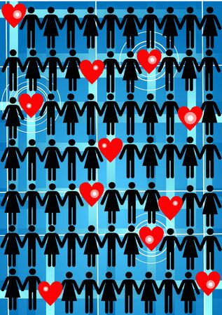Love network Stock Vector - 9460312