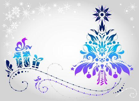 enero: Fondo de Navidad con espacio para texto   Vectores