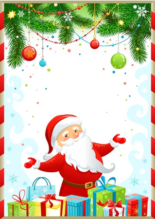 Christmas background with Santa Claus Stock Vector - 9580926