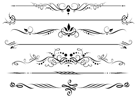 Dividers and borders Stock Vector - 9580907