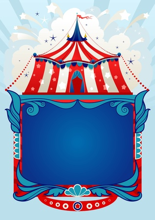 entertainments: Circus background with space for text