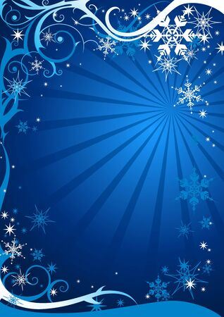 christmas scroll: Christmas background with space for text Illustration