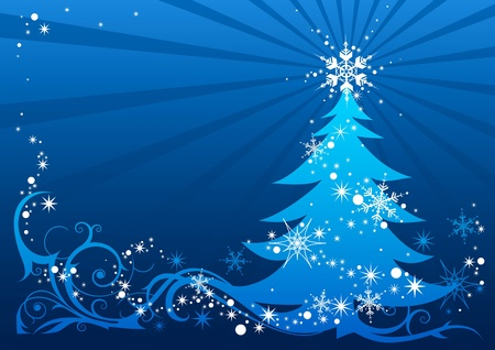 abstract Christmas tree with space for text Vector