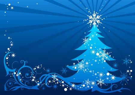 weihnachten zweig: abstrakter Weihnachtsbaum mit Platz f�r text Illustration