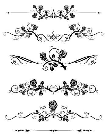 roses pattern: Decorative elements