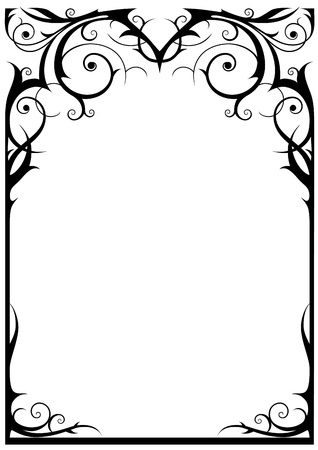 Fantasy frame with space for text Vector