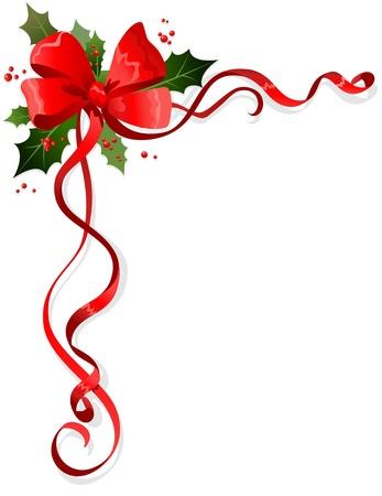 frutos rojos: Decoraci�n navide�a con espacio para texto