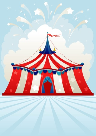 Circus tent with space for text Vector