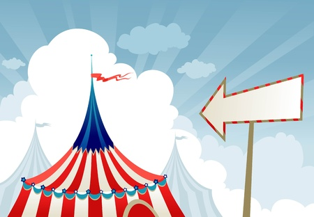 Circus tent top with sign Vector